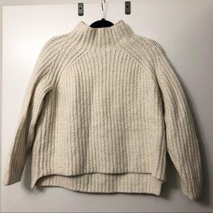 Theory Cream Wool Sweater
